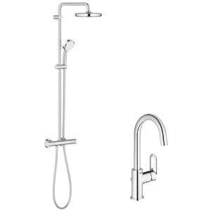 Pachet: Coloana dus Grohe New Tempesta 210-27922001, Bateria lavoar Grohe Bauloop L-23763000