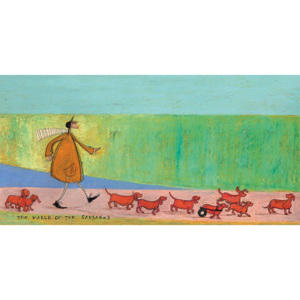Sam Toft - The March of the Sausages Tablou Canvas, (100 x 50 cm)