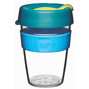 Cană de voiaj cu capac KeepCup Clear Edition Ozone, 340 ml